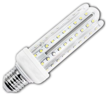 Żarówka LED B5 T3 4U E27 6400K, 15W, 1200lm, walec, światło białe zimne, 15000h