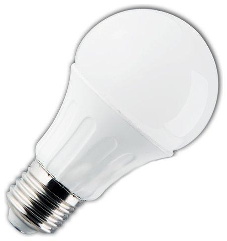 Żarówka LED A5 A60B E27 6400K, 10W, 850lm, kulka, mleczna, światło białe zimne, 25000h