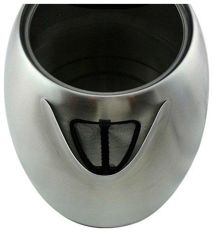 Czajnik elektryczny bezprzewodowy Aigostar, 2200W, 1700ml, metalowy, srebrny (typ 2)