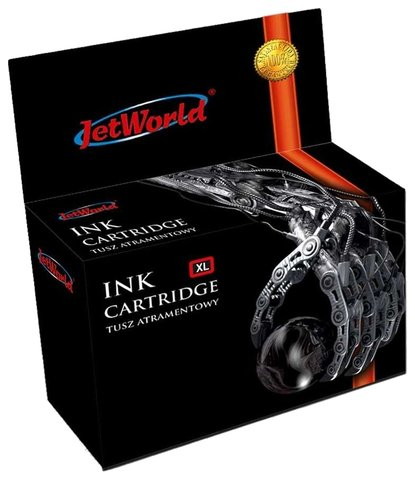 Tusz JetWorld  Black BROTHER LC980BK / LC1100BK zamiennik LC980BK / LC1100BK, 35 ml
