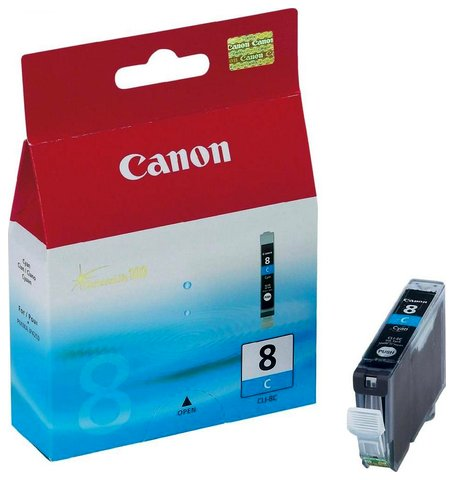 Tusz Canon CLI8C cyan | 13ml | iP3300/4200/4300/5200/5300/6600/6700/MP500/600/80