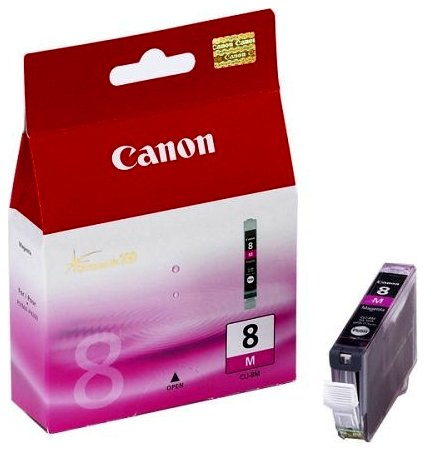 Tusz Canon CLI8M magenta | 13ml | iP3300/4200/4300/5200/5300/6600/6700/MP500/600