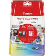 Oryginał Tusz Canon value pack PG-540XL+Cl-541XL+papier photo (PG-540XL+CL-541XL bk/col)