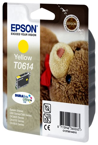 Oryginał Tusz  Epson T0614   do  DX-3800/3850/4200/4800 ,D-68/88 | 8ml | yellow