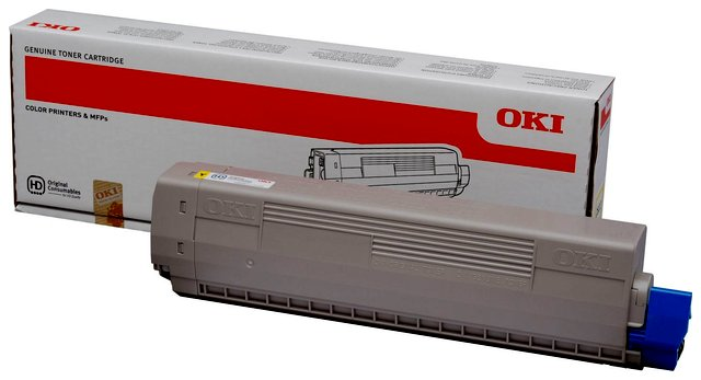 Oryginał Toner Oki do C822 | 7 300 str. | yellow